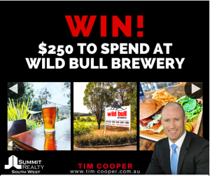 Tim Cooper – Win a $250 Voucher to Spend at Wild Bull Brewery In The Spectacular Hills of Ferguson Valley