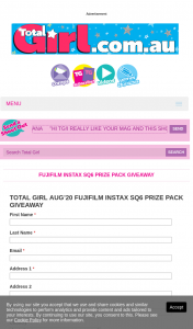 Total Girl – Win a Fujifilm Instax Sq6 Prize Pack (prize valued at $1,373)
