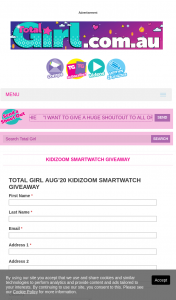 Total Girl – Win a Kidizoom Smartwatch (prize valued at $539)