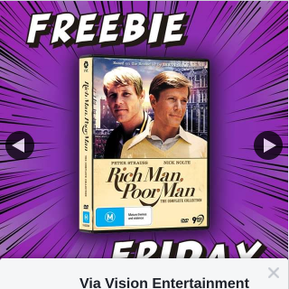 Via Vision Entertainment – Win a Copy of Rich Man Poor Man The Complete Collection on DVD