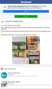 Victoria Point Shopping Centre – Win Four Treehouse Collector Mini Books & a Paperback