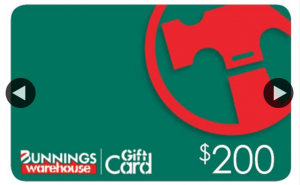 Win a $200 Bunnings Gift Card &#128525&#128293&#128293 Simply Like (prize valued at $200)