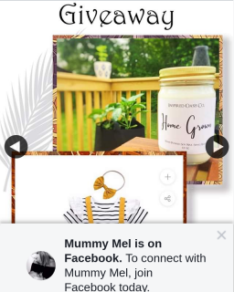 Win a Candle and $20 Voucher Mummy Mel 5pm