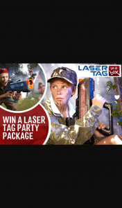 Win a Laser Tag In a Box Party Worth $599 (prize valued at $599)