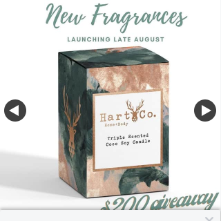 Win a $200 Online Gift Card Hart Co Home body 7pm (prize valued at $200)