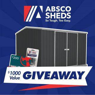 Absco Sheds – Win an Australian made shed