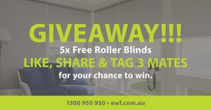 Empire Window Furnishings – Win 1 of 5 Roller Blinds