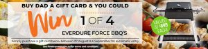 Flower Power – Win 1 of 4 Everdure Force Gas BBQs for Dad