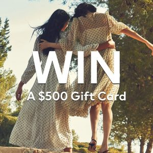 H&M – Win 1 of 3 gift cards valued at $500 each