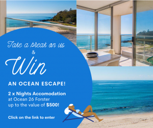 HomSure – Win an Ocean Escape for 2 nights on Forster's main beach