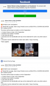 Adore Home Living Jandakot – Win Our Beautiful Cooper Decanter Set (valued at $79) (prize valued at $79)
