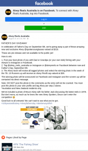 Alvey Reels Australia – Win a Pair of Alvey Sunglasses (prize valued at $319)
