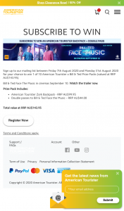 American Tourister – Win 1 of 10 American Tourister X Bill & Ted Prize Packs (valued at RRP Au$143.95). (prize valued at $1,439)