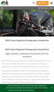 Australia Zoo/Crikey Magazine Photography competition – Competition (prize valued at $99.95)