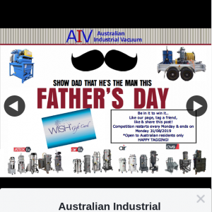 Australian Industrial Vacuum – Win a $100 Wish Giftcard on Us