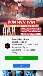 Australian Liquor Suppliers – Win 1/3 Prize Packs (prize valued at $800)