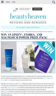 Beauty Haven – Win an Epzen® Evodia and Magnesium Power Prize Pack