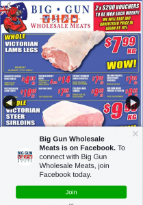 Big Gun Wholesale Meats Underwood – Win 1 of 2 X $200 Vouchers (prize valued at $400)