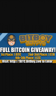 BiTBoy Full Bitcoin Giveaway – Competition (prize valued at $18,000)