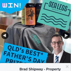 Brad Shipway Property Geebung – Win a Mixed Pack of Limited-Edition Beers and The Limited-Edition Sealegs Brewing Hoodie (prize valued at $175)