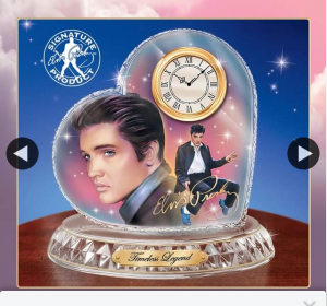 Bradford Exchange Australia – Win this Tribute Clock Featuring Two Full-Colour Portraits of The King Himself By Famed Artist Nate Giorgio (prize valued at $149)
