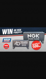 Burson Auto Parts – Win an Ngk Fire Pit Worth $500 (prize valued at $500)