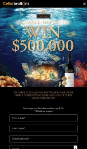 Cellarbrations-IGA Liquor/Bottle-o/Big Bargain/Taylors Wine – That Entrant (prize valued at $500,000)
