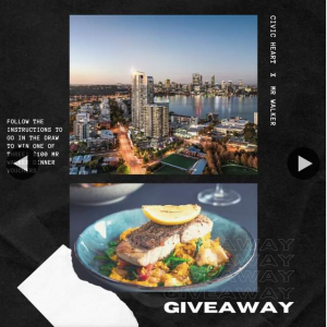 Civic Heart South Perth – Win 1/3 $100 Mr Walker Vouchers Must Collect (prize valued at $300)