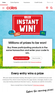 Coles Instant – Win Competition Promotion