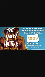 Dendy Cinemas – Win a $500 Eftpos Cash Card