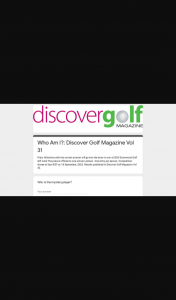 Discover Golf – Win a $250 Drummond Golf Gift Card The Prize Is Offered to One Winner/ Person