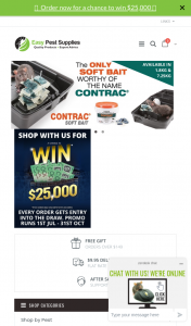"""Easy Pest Supplies Shop & – Win $25000 Promotion Terms & Conditions (""""conditions of Entry"""") (prize valued at $25,000)"""