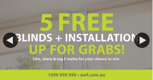 Empire Window Furnishings – Win – 5 Free Blinds Up to The Value of $2000.