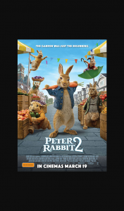 Female – Win One of 10 X In-Season Double Tickets to Peter Rabbit™ 2. (prize valued at $1)