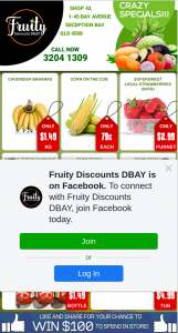 Fruity Discounts DBay – Win $100 Store Voucher (prize valued at $100)