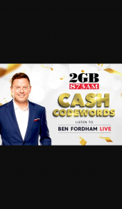 2GB Cash Codewords – Win $1000 Cash (prize valued at $15,000)