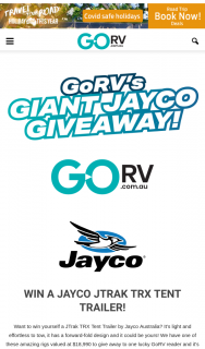 GO RV – Win a Jayco Jtrak Trx Tent Trailer (prize valued at $18,990)
