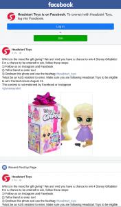 Headstart Toys – Win 4 Disney Giftables