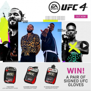 JB HiFi – Win 1 of 3 Signed Ufc Gloves From These Fighters