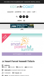 Kids in the City-Kids on the Coast – Win 2 Tickets to Smart Parent Summit