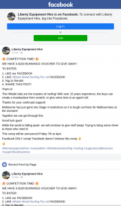 Liberty Equipment Hire – Win a $100 Bunnings Gift Card (prize valued at $100)