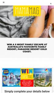 Mama Mag – Win 5 Night Paradise Resort Gold Coast (prize valued at $2,490)
