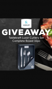Mega Boutique – Win a Tablekraft Luxor Cutlery Set Complete Boxed 32pc