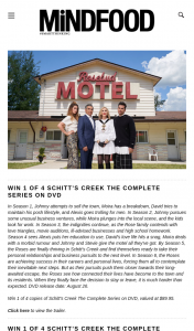 Mindfood – Win 1 of 4 Copies of Schitt's Creek The Complete Series on DVD (prize valued at $89.95)