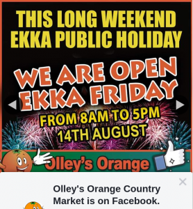 Olley's Orange Country Market – Win a Veg Box Or Tag Any 5 Friends for Your Chance to Win a $100 In-Store Voucher to Spend on Fresh Food and Groceries