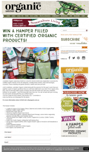 Organic Gardener – Win a Hamper Filled With Certified Organic Products (prize valued at $317)