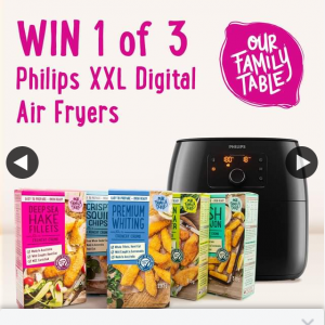 Our Family Table – Win 1 of 3 Philips Xxl Premium Twin Turbostar Digital Air Fryers this August