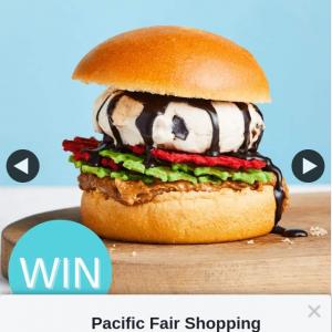 Pacific Fair Shopping Centre – Win a Ben & Jerry's Ice Cream Burger