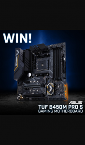 PC Case Gear – Win an Asus Tuf B450m Pro S Gaming Motherboard (prize valued at $199)
