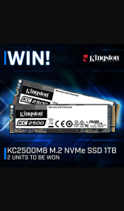PC Case Gear – Win 1 of 2 Kingston Kc2500m8 1TB Nvme Ssd's